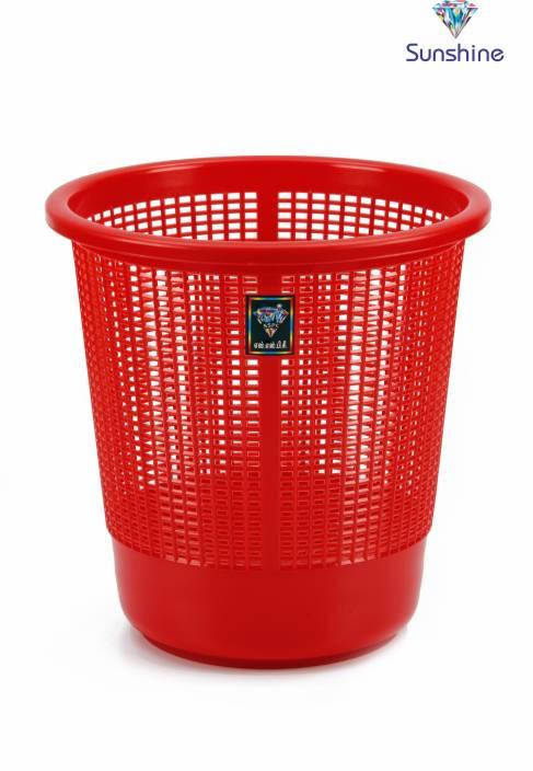 Sunshine Big Jalli Red Plastic Dustbin