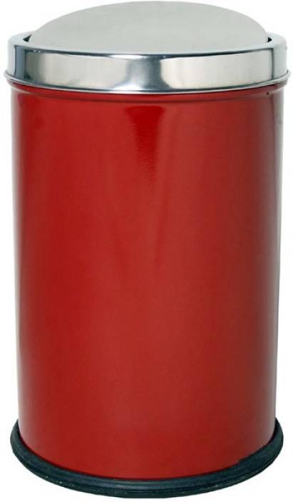King International Hygeine 8X12 Red Swing Bin Stainless Steel Dustbin