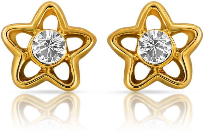 Mahi Shinning Star Alloy Stud Earring
