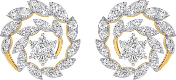 2f024dc0dc0768 Flipkart.com - Buy Pooja & Sonam Trif Cubic Zirconia Silver Stud Earring  Online at Best Prices in India