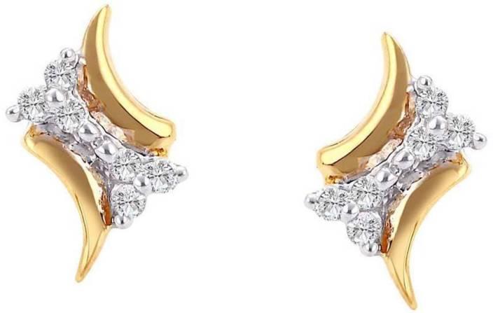 Asmi Designer Yellow Gold 18kt Diamond Stud Earring