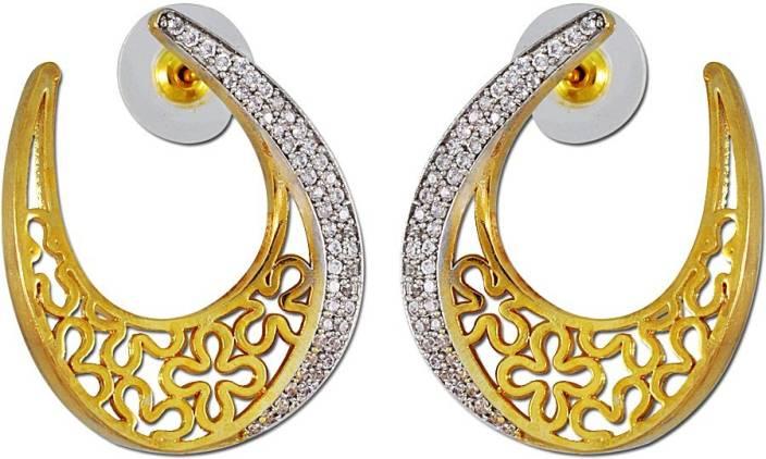 1447ba046a14b Enzy Tanishq Mia Collection Designer Baali Alloy Hoop Earring