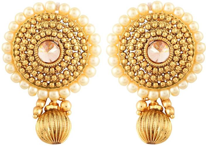 35ceaeec1 Flipkart.com - Buy Sardarji Bentex Walley Big Tops Earrings Brass, Copper Stud  Earring Online at Best Prices in India