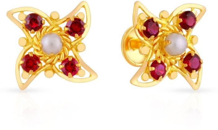 73b30ee19 Malabar Gold and Diamonds Blraaaabxtts Yellow Gold 22kt Pearl Stud Earring  Price in India - Buy Malabar Gold and Diamonds Blraaaabxtts Yellow Gold 22kt  ...