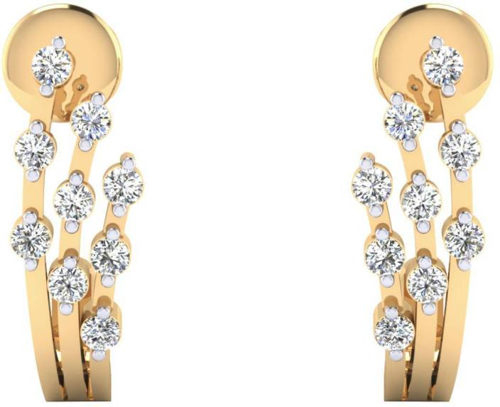 Samaira Gem and Jewelery Spring Sparkle Yellow Gold 14kt Swarovski Crystal Stud Earring