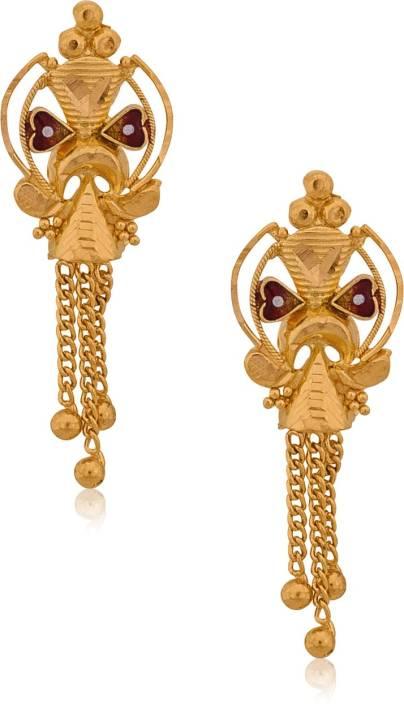 Senco Gold Contemporary Yellow 22kt Stud Earring