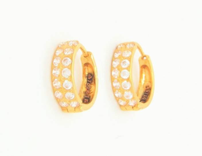 Bhurmal Aidanmal Jewellers Cubic Sparks Yellow Gold 18kt Clip-on Earring