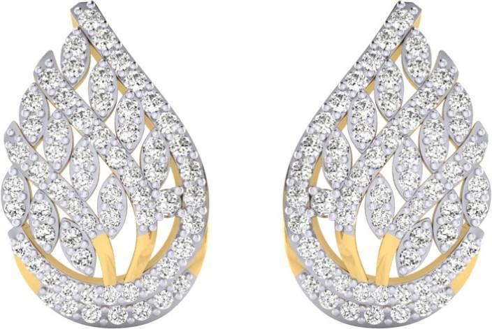 e129220c8f0e03 Flipkart.com - Buy Pooja & Sonam Ette Cubic Zirconia Silver Stud Earring  Online at Best Prices in India