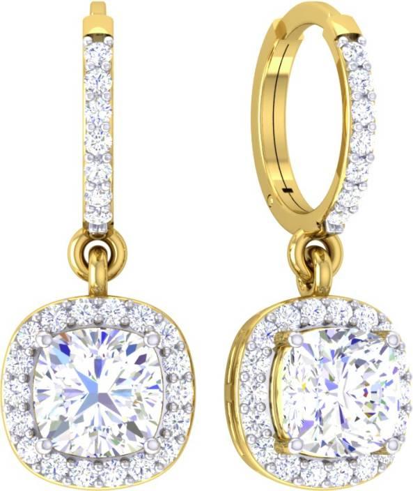 Samaira Gem and Jewelery Spring Sparkle Yellow Gold 14kt Swarovski Crystal Drop Earring