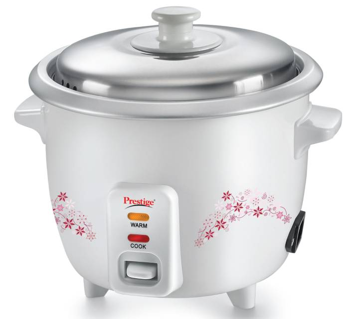 prestige delight prwo electric rice cooker with steaming feature (1 5 l,  white)