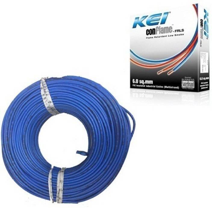 KEI FR PVC, PVC 2.5 sq/mm Blue 180 m Wire Price in India - Buy KEI ...