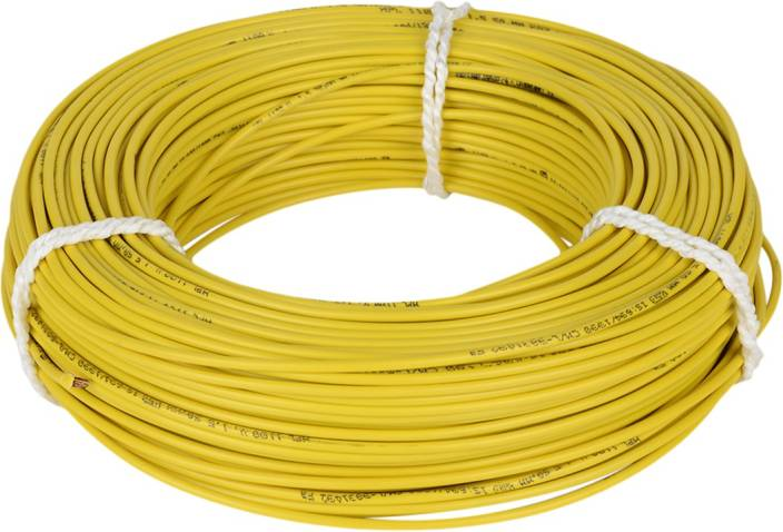 HPL FR PVC 1.5 sq/mm Yellow 90 m Wire Price in India - Buy HPL FR ...