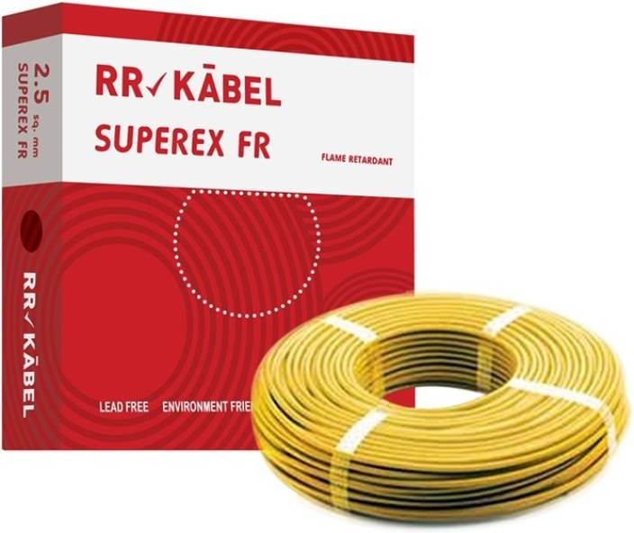 Omtyckta RR Kabel PVC 2.5 sq/mm Yellow 90 m Wire Price in India - Buy RR BC-44