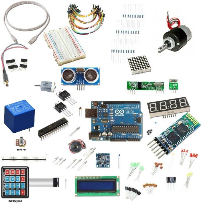 Robokart ARDUINO UNO Ultimate starter kit 100 plus component and 50+  projects Electronic Components Electronic Hobby Kit