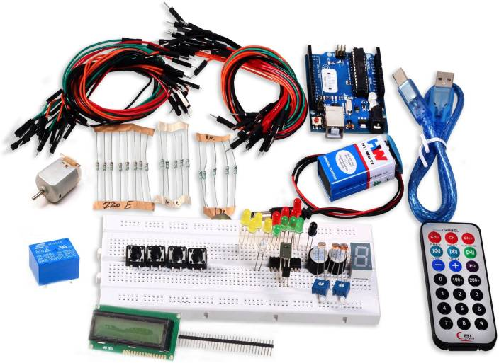 SunRobotics Arduino Uno Based Starter Kit - Basic Electronic Components  Electronic Hobby Kit