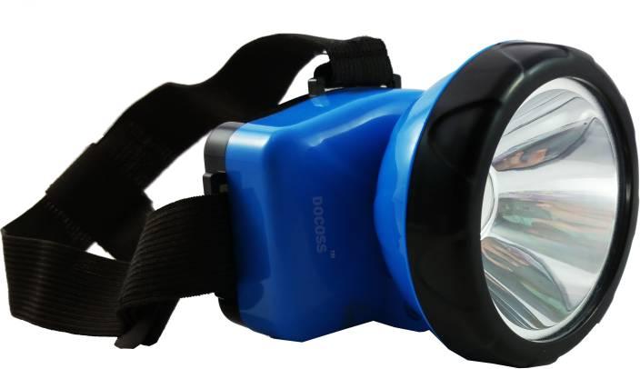 DOCOSS Adjustable Head light torch emergeny Lamp Bright & Long Range Torches