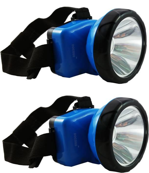 DOCOSS Pack Of 2-Adjustable Head Lamp Bright & Long Range Emergency Lights