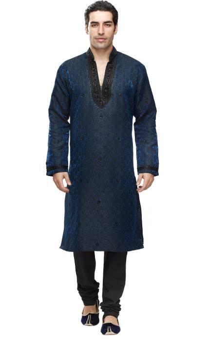 7e5dc079dc Manyavar Men's Kurta and Churidar Set - Buy Blue Manyavar Men's Kurta and Churidar  Set Online at Best Prices in India | Flipkart.com