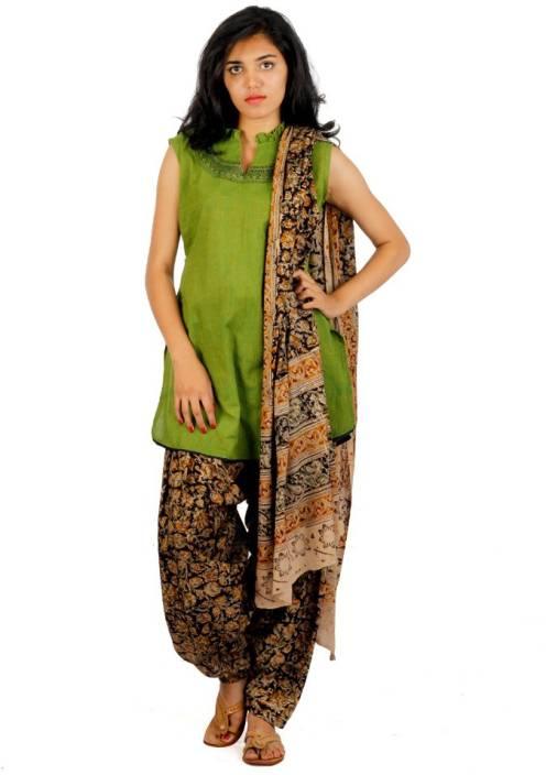 821247c45f Hasta Varna Studio Women's Kurti, Patiala and Dupatta Set - Buy Kalamkari  Brown, Handloom Green Hasta Varna Studio Women's Kurti, Patiala and Dupatta  Set ...