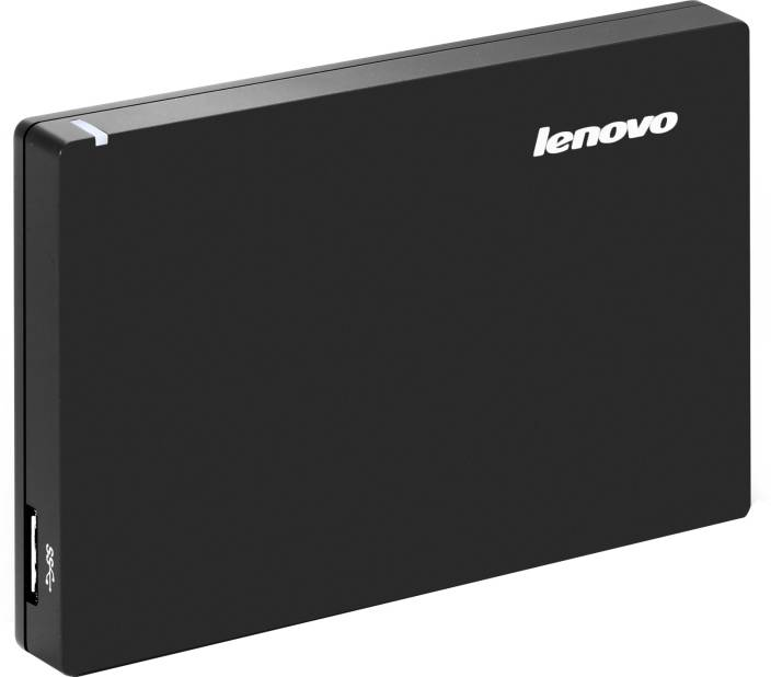 Lenovo Slim 1 TB Wired External Hard Disk Drive