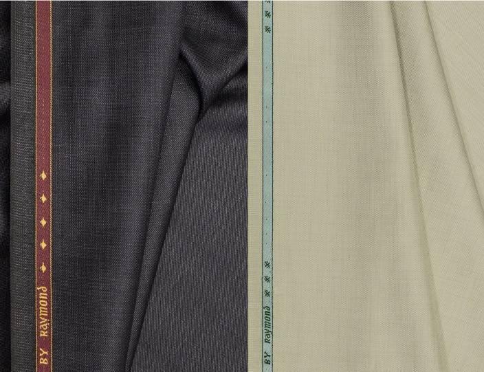 662949e3e74 Raymond Cotton Polyester Blend Self Design Trouser Fabric (Un-stitched)