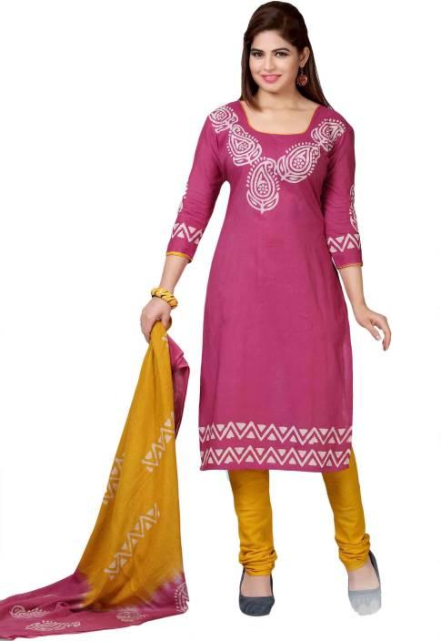 M.S.Retail Cotton Printed Salwar Suit Dupatta Material
