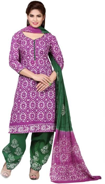 M.S.Retail Cotton Printed Salwar Suit Dupatta Material  (Un-stitched)