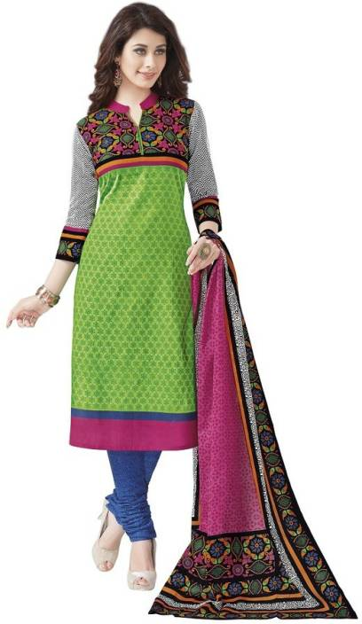dffe34f532 Padmini Cotton Printed Salwar Suit Dupatta Material Price in India ...