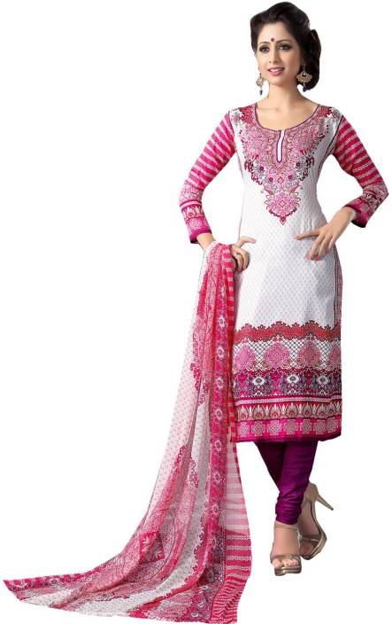 Ishin Cotton Printed Semi-stitched Salwar Suit Dupatta Material