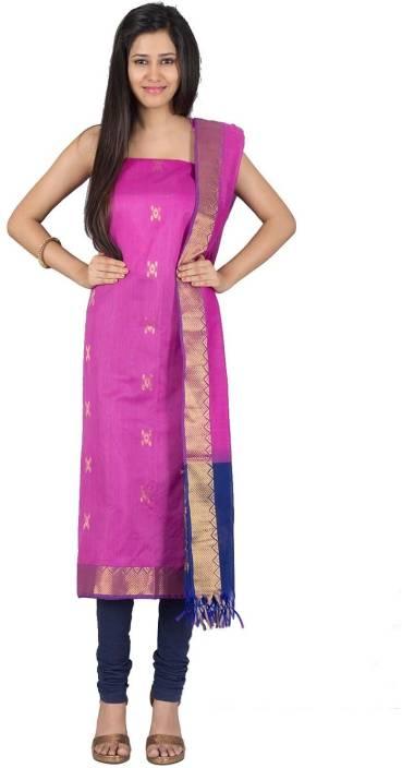IndiaInMyBag Cotton Silk Blend Self Design Salwar Suit Dupatta ...