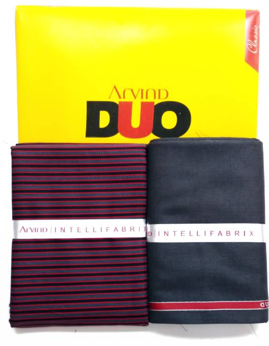 Arvind Cotton Striped Shirt & Trouser Fabric