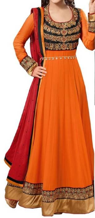 Ashapura Georgette Embroidered Salwar Suit Dupatta Material
