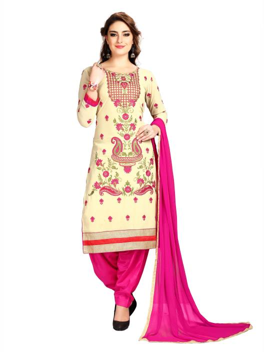 Elevate Women Georgette Embroidered Semi-stitched Salwar Suit Dupatta Material, Semi-stitched Salwar Suit Material, Salwar Suit Material, Salwar Suit Dupatta Material, Dress/Top Material