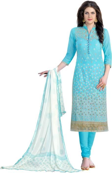 DnVeens Cotton Embroidered Salwar Suit Dupatta Material