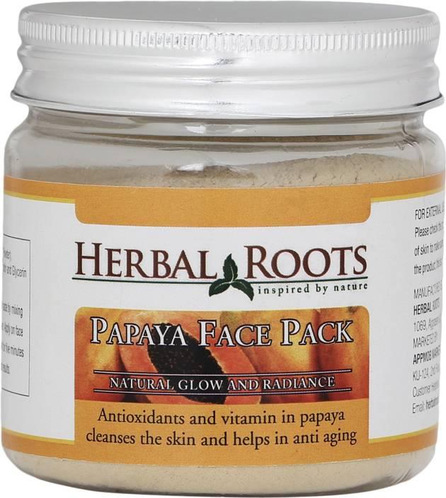 Herbal Roots Skin Whitening Papaya Face Pack