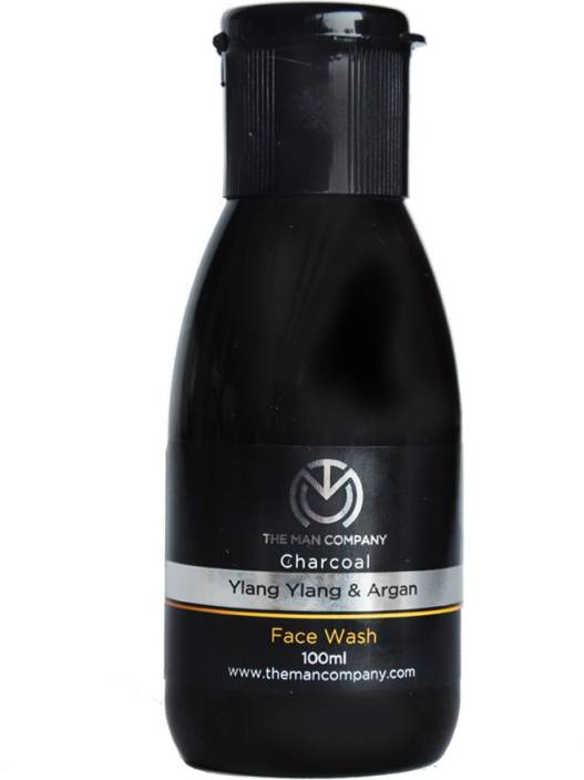 The Man Company Charcoal Face Wash with Ylang Ylang & Argan Essential Oils Face Wash