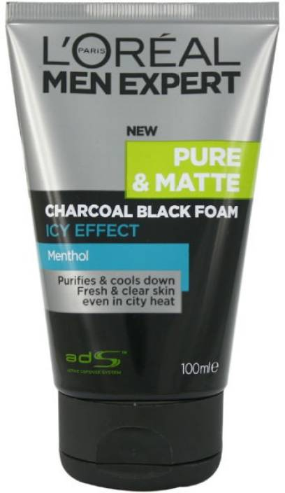 L Oreal Paris Men Expert Pure Amp Matte Charcoal Black Foam