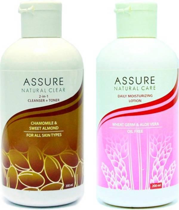 Assure Natural Clear (Cleanser + Toner) & Moisturising