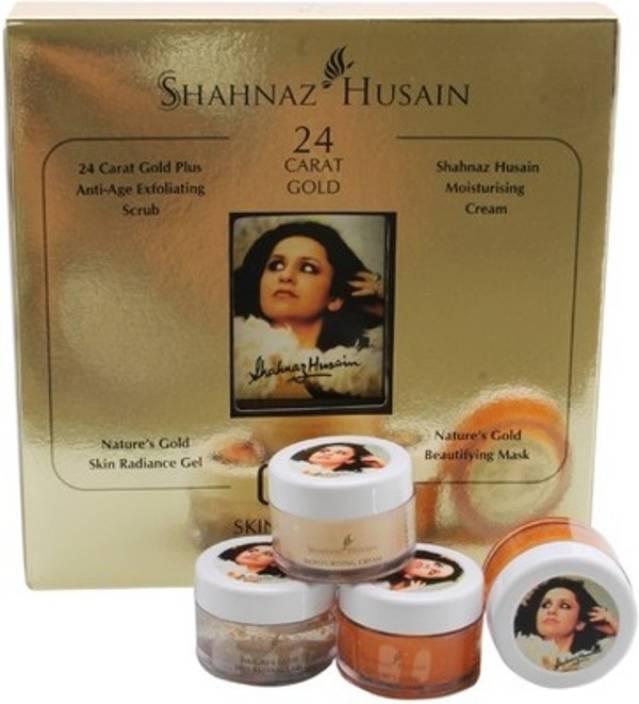 Shahnaz Husain 24 Carat Gold Skin Radiance Kit (10gm * 4) 40 g