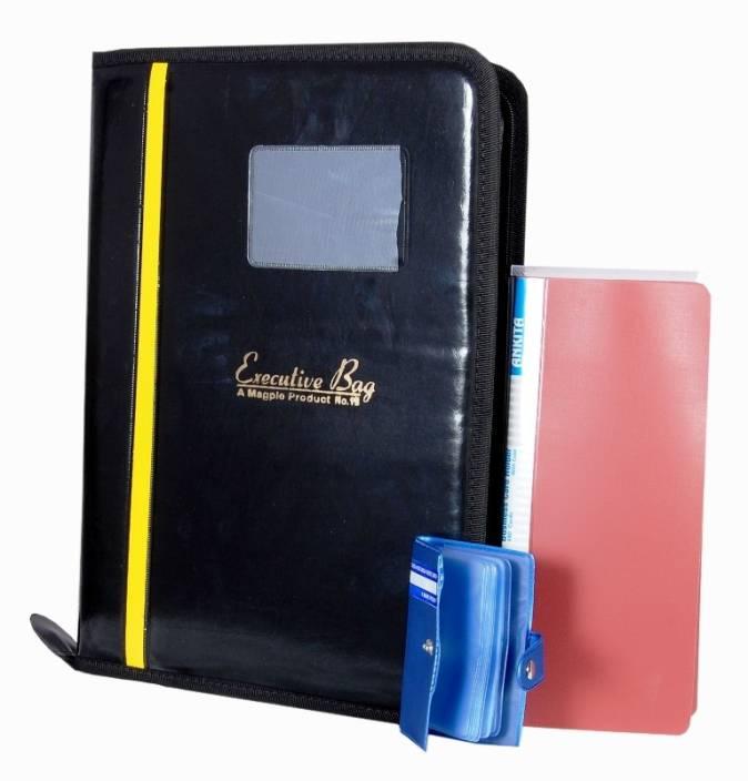 Flipkart Aahum Faux Leather File Folder Visiting Card Holder