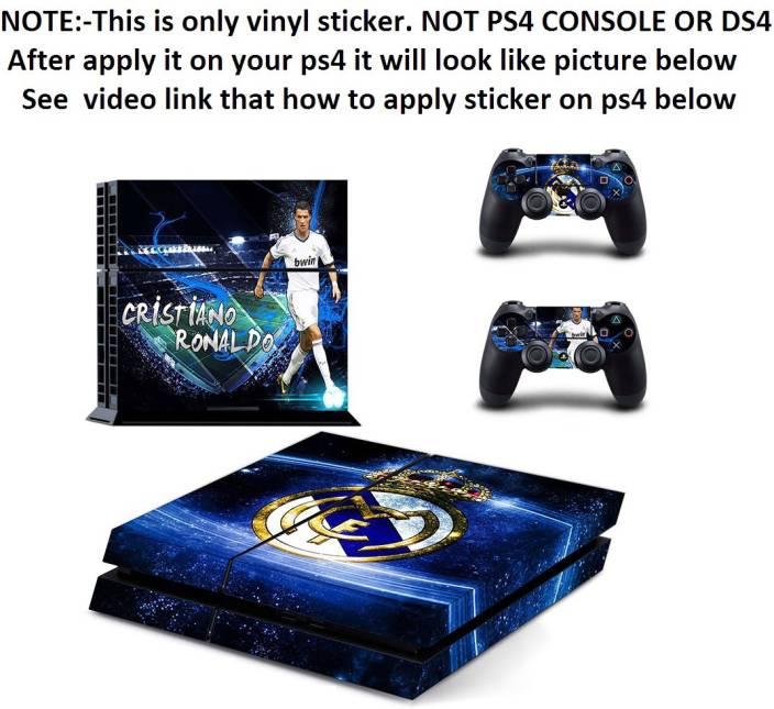 f3bb0e6f5 Al Pacino Real Madrid (Cristiano Ronaldo) theme console cover ps4 sticker  Gaming Accessory Kit (Blue