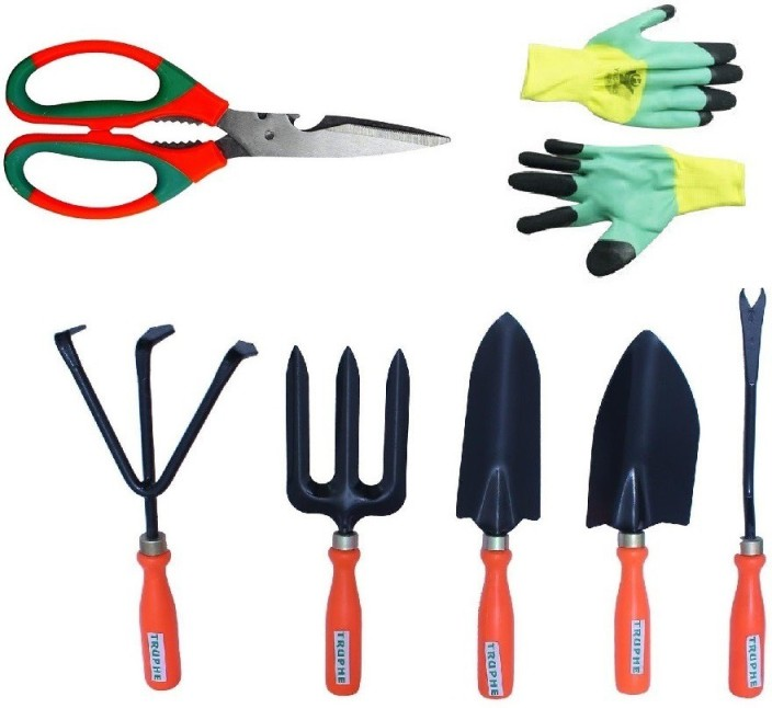 Good Truphe Gardening Tools Set With Scissor And Gloves Garden Tool Kit (7 Tools)