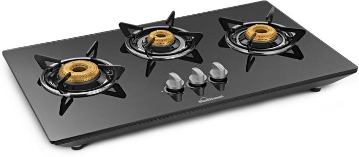 Sunflame CT HOB Glass, Stainless Steel Manual Gas Stove