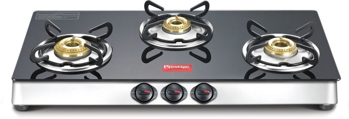 Prestige Marvel LP Gas Table With Glass Top Stainless Steel, Glass Manual  Gas Stove