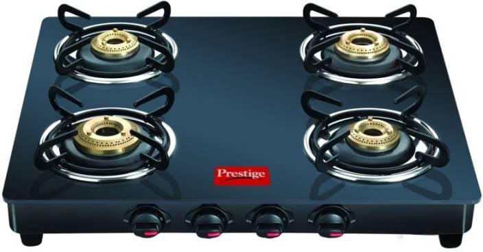 Prestige Prestige GTM 04 Black Glass Manual Gas Stove
