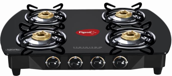 Pigeon Brass Oval Stainless Steel Manual Gas Stove