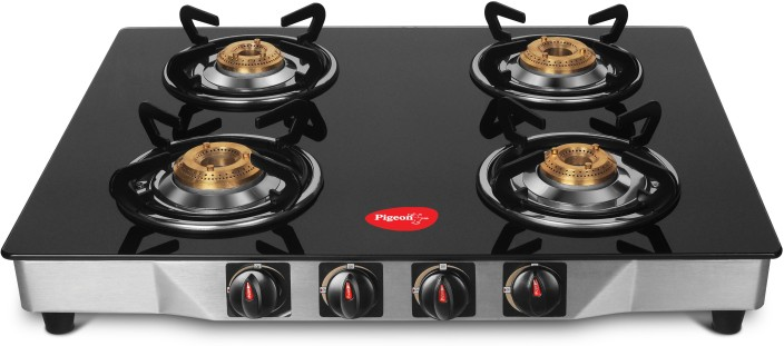 pigeon ultra glass stainless steel manual gas stove