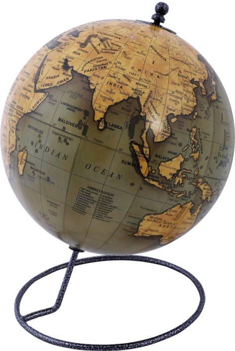 Globeskart Designer Olive Desk And Table Top Political World Globe