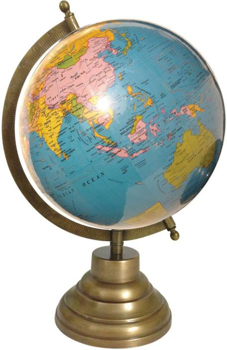 Globeskart educational laminated with antique brass finish stand globeskart educational laminated with antique brass finish stand desk table top political world globe gumiabroncs Image collections