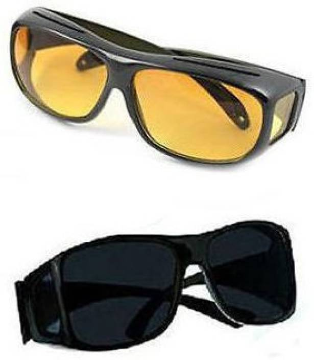 9aaa76392d3 Shrih HD Vision Wraparounds Sunglasses Night Vision Sports Goggles  (Multicolor)